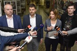 Tisková konference dohodnuté koalice v Brně
