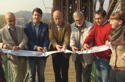 Otevření lávky u železníčního mostu na pražské Výtoni