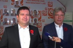 Jan Hamáček a Roman Onderka