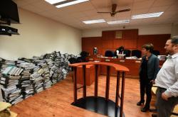 Spisy uskladněné v soudní síni