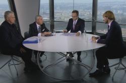 Jaroslav Dvořák (SPD), Leoš Heger (TOP 09) a Adam Vojtěch (ANO)