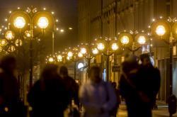 Veřejné osvětlení před Vánocemi v Hradci Králové