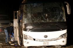 Výbuch bomby v egyptské Gíze