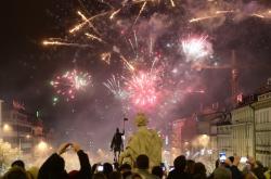 Silvestrovské oslavy na Václavském náměstí