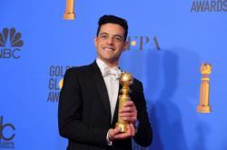 Rami Malek se Zlatým glóbem