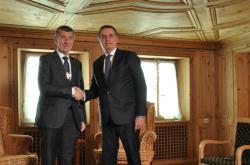 Český premiér Andrej Babiš a brazilský prezident Jair Bolsonaro