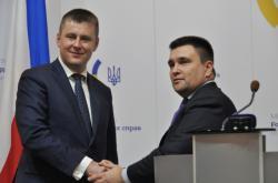 Ministři zahraničí Tomáš Petříček a Pavlo Klimkin