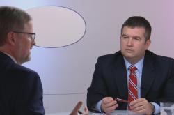 Petr Fiala (ODS) a Jan Hamáček (ČSSD) v Otázkách Václava Moravce