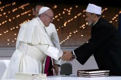 Papež František a šajch Ahmad Tajib