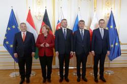 Angela Merkelová s premiéry zemí skupiny V4