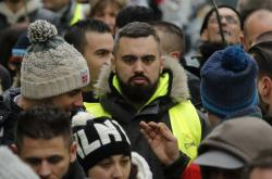 Mluvčí hnutí žlutých vest Éric Drouet