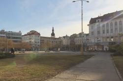 Proluka na ostravském Masarykově náměstí