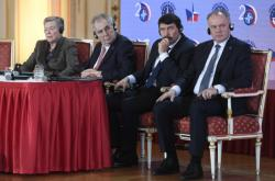 Rose Gottemoeller, Miloš Zeman, János Áder a Andrej Kiska