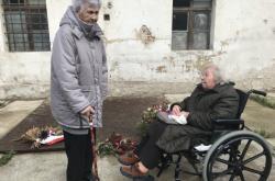 Venuše Štefková a Zdena Zajoncová v bývalé věznici na Cejlu