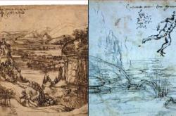 Studie obrazu Toskánská krajina a údolí řeky Arno