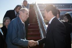 Miloš Zeman přiletěl do Číny