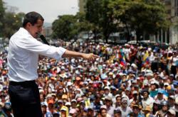 Juan Guaidó na prvomájové demonstraci