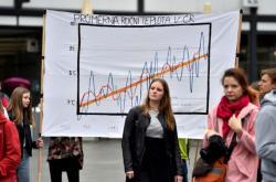 Stávka studentů za ochranu klimatu v Brně