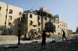 Domy v Pásmu Gazy zasažené izraelskými raktemi