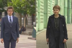 Mladí polští voliči Franciszek Jóźwicki a Ania Chabiera