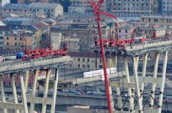 Pohled na janovský most na jaře 2019