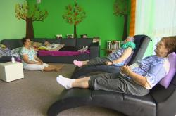 Obyvatelky Domova seniorů Břeclav při terapii