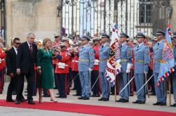 Prezident Miloš Zeman přijal slovenskou hlavu státu Zuzanu Čaputovou