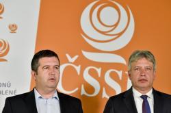 Jan Hamáček a Roman Onderka po pátečním jednání ČSSD