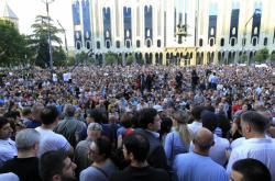 Páteční demonstrace v Tbilisi