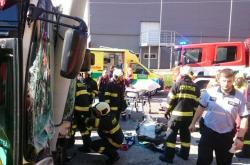 Nehoda trolejbusu v Českých Budějovicích