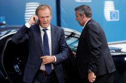 Šéf evropských summitů Donald Tusk přijíždí na jednání