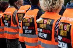 Protest v německé elektrárně Schwarze Pumpe