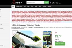 Homepage slevového portálu Slever.cz