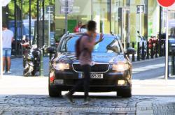 Chodci a provoz v centru Prahy