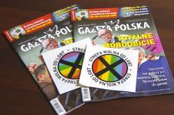 Vydání Gazety Polské se samolepkou