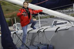 Greta Thunbergová pluje do USA