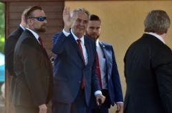 Miloš Zeman při zahájení agrosalonu Země živitelka