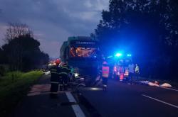 Nehoda kamionu a osobního auta na Hodonínsku