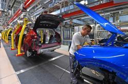 Výroba automobilky Opel v Eisenachu