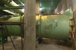 Vodní potrubí v dukovanské jaderné elektrárně