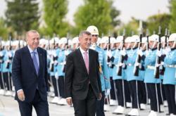Andrej Babiš a Recep Tayyip Erdogan