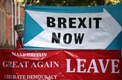 Příznivec brexitu