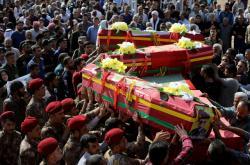 Pohřeb bojovníků SDF v Kámišlí