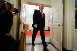 Donald Trump na tiskové konferenci o smrti Bagdádího
