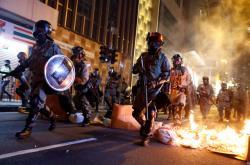Zásah hongkongské policie