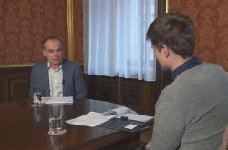 Rakouský profesor ekonomie Josef Zweimüller v rozhovoru pro ČT24