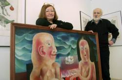Eva a Jan Švankmajerovi v únoru 2004