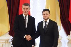 Andrej Babiš a Volodymyr Zelenskyj