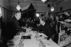 Václav Havel a Ladislav Adamec 26. 11. 1989