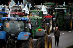 Protest zemědělců v Paříži
